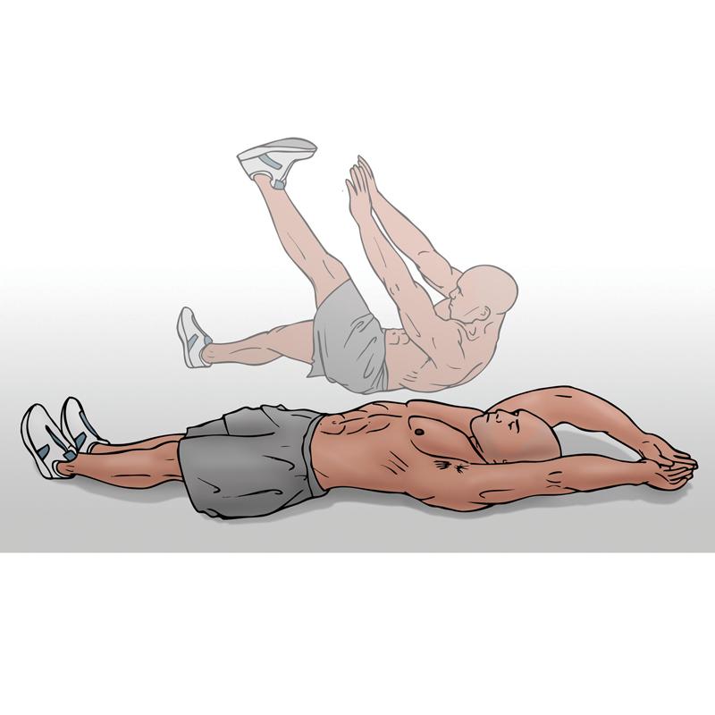 single leg v-ups