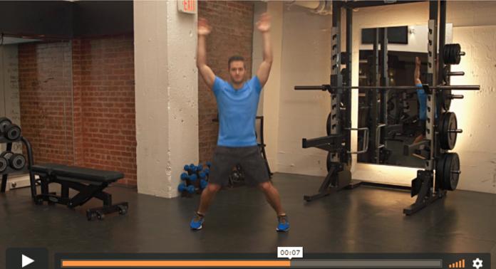 Houston personal trainer jumping jacks